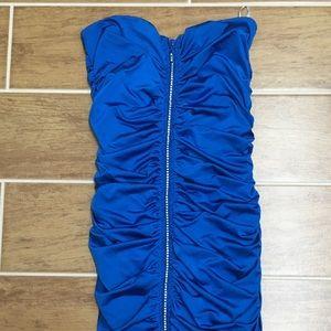 Dresses & Skirts - Blue stretch bodycon